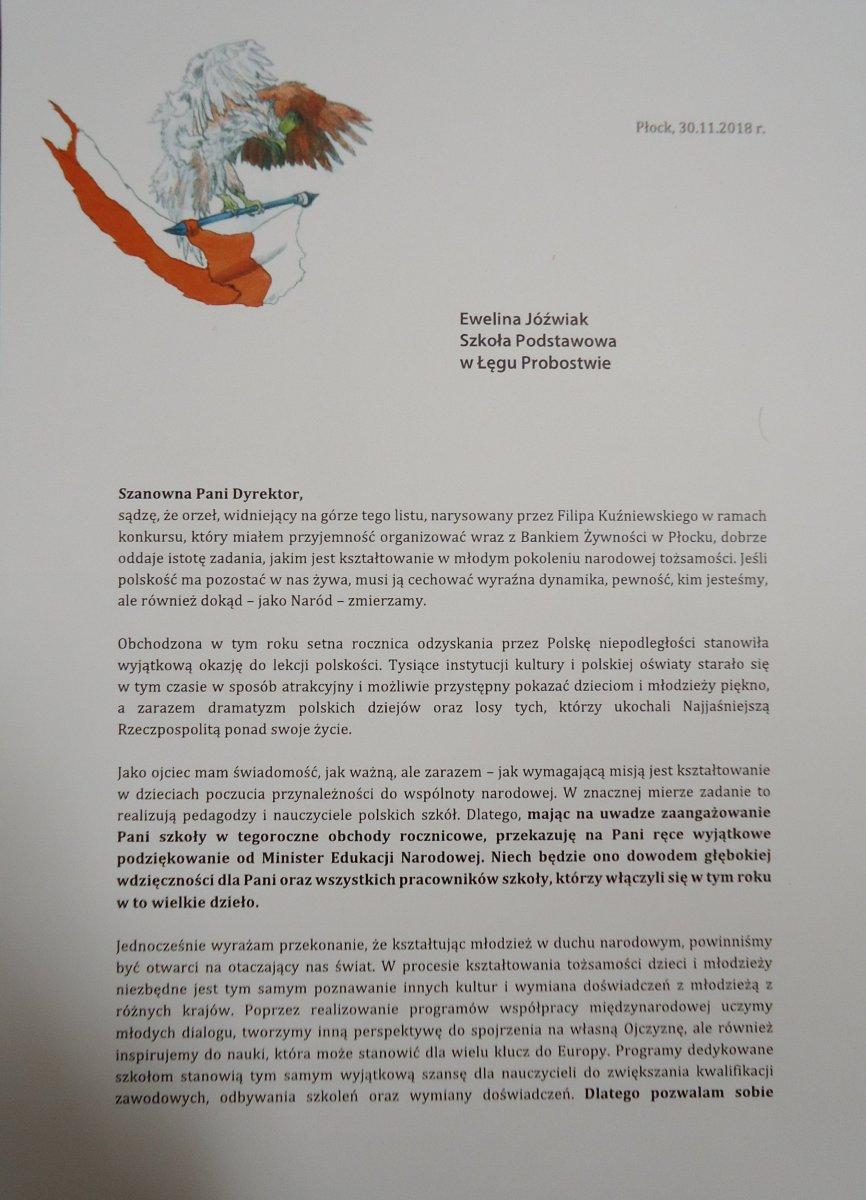 Przegladasz: Dyplom od p. Posła Marka Opioły.