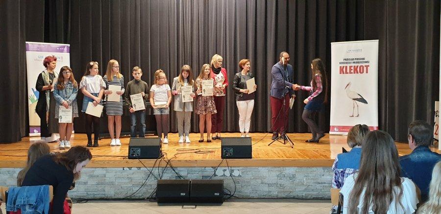 Przegladasz: VII Przegląd Piosenki Dziecięcej i Młodzieżowej Klekot 2019.