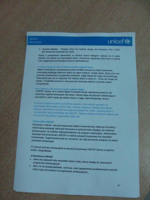 Przegladasz: Dostrzec innych. Akcja UNICEF.